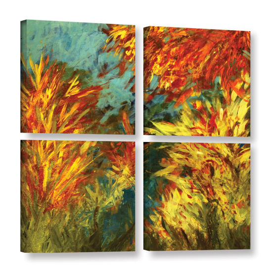 Brushstone Quiet Lake ! 4-pc. Square Gallery Wrapped Canvas Wall Art