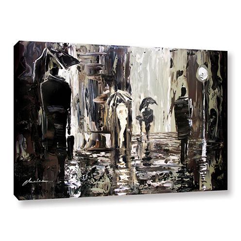 Brushstone Rain Gallery Wrapped Canvas Wall Art