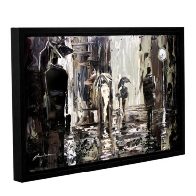 Brushstone Rain Gallery Wrapped Floater-Framed Canvas Wall Art
