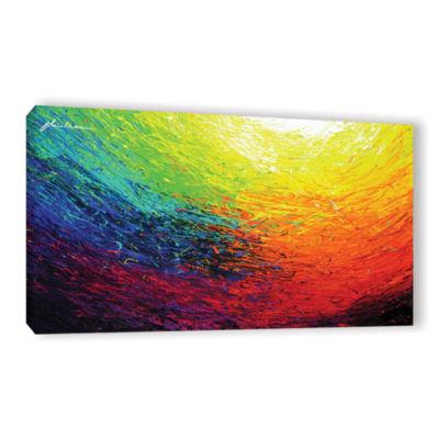 Brushstone Rainbow Gallery Wrapped Canvas Wall Art