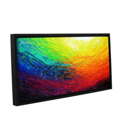 Brushstone Rainbow Gallery Wrapped Floater-FramedCanvas Wall Art