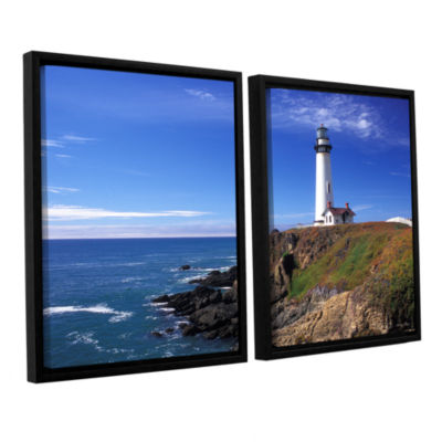 Brushstone Pigeon Point Lighthouse 2-pc. Floater Framed Canvas Wall Art