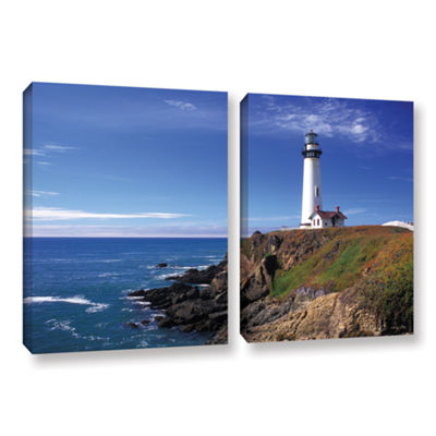 Brushstone Pigeon Point Lighthouse 2-pc. Gallery Wrapped Canvas Wall Art