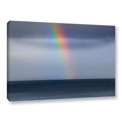 Brushstone Rainbow Sky Gallery Wrapped Canvas WallArt
