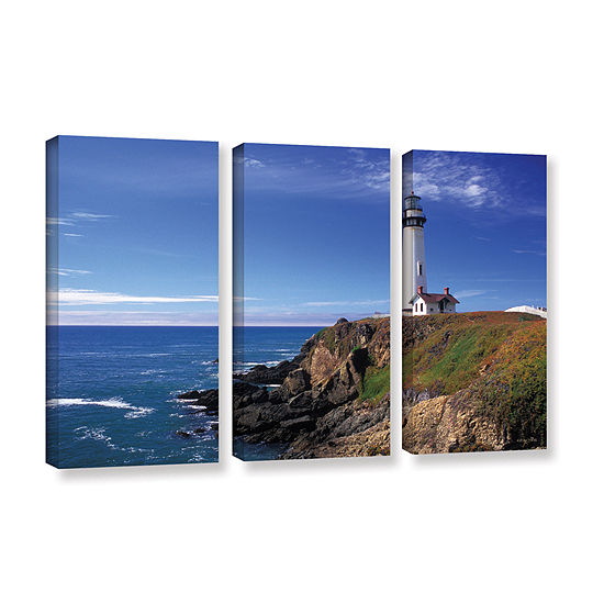 Brushstone Pigeon Point Lighthouse 3 Pc Gallery Wrapped Canvas Wall Art