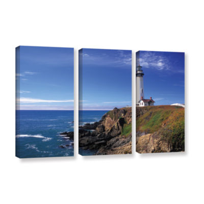Brushstone Pigeon Point Lighthouse 3-pc. Gallery Wrapped Canvas Wall Art