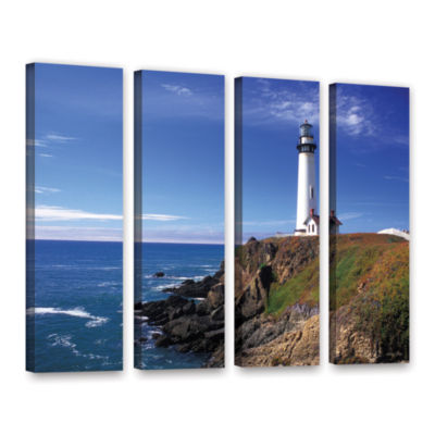 Brushstone Pigeon Point Lighthouse 4-pc. Gallery Wrapped Canvas Wall Art
