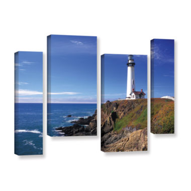 Brushstone Pigeon Point Lighthouse 4-pc. Gallery Wrapped Staggered Canvas Wall Art
