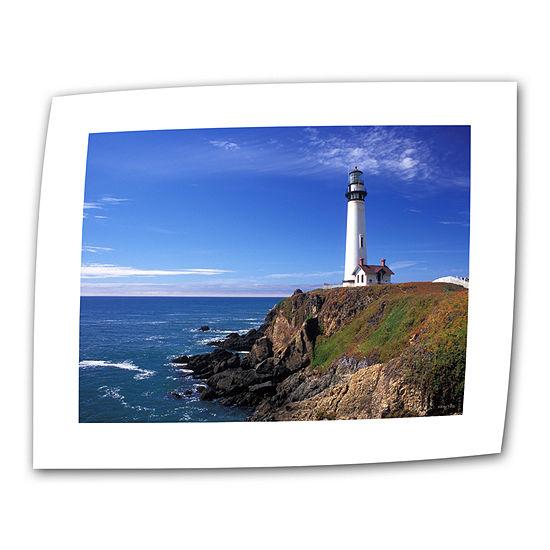 Brushstone Pigeon Point Lighthouse Canvas Wall Art