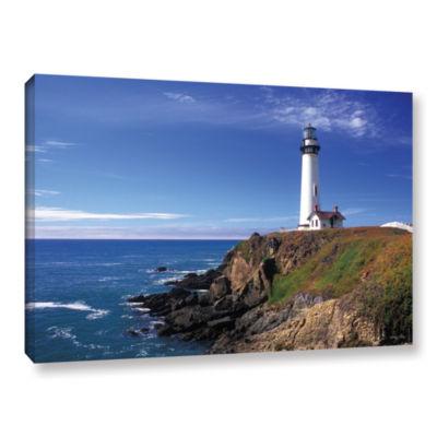 Brushstone Pigeon Point Lighthouse Gallery WrappedCanvas Wall Art