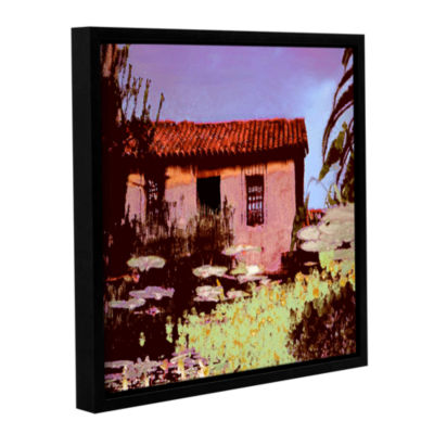 Brushstone Reflection The Past Gallery Wrapped Floater-Framed Canvas Wall Art