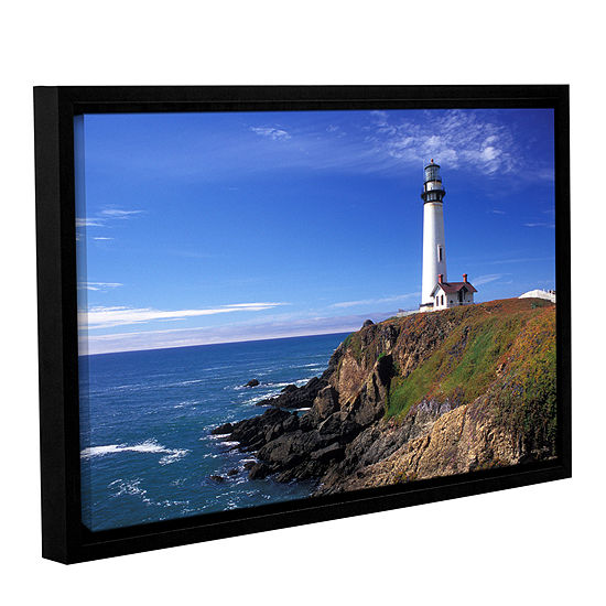 Brushstone Pigeon Point Lighthouse Gallery Wrapped Floater-Framed Canvas Wall Art
