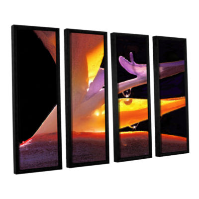 Brushstone Rain Bird 4-pc. Floater Framed Canvas Wall Art