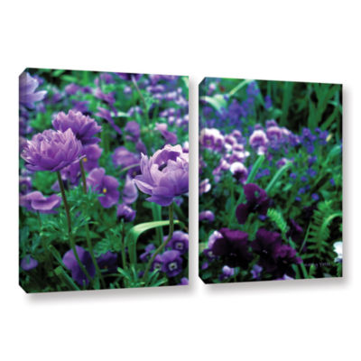 Brushstone Poppies In Monets 2-pc. Gallery WrappedCanvas Wall Art