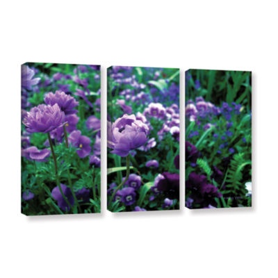 Brushstone Poppies In Monets 3-pc. Gallery WrappedCanvas Wall Art
