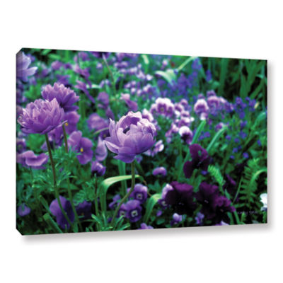 Brushstone Poppies In Monets Gallery Wrapped Canvas Wall Art