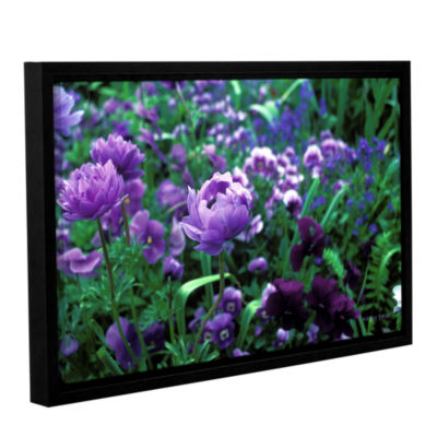 Brushstone Poppies In Monets Gallery Wrapped Floater-Framed Canvas Wall Art