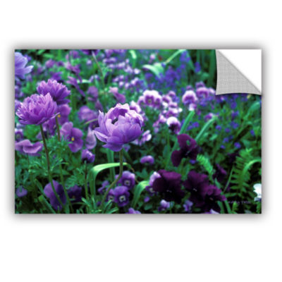 Brushstone Poppies In Monets Removable Wall Decal