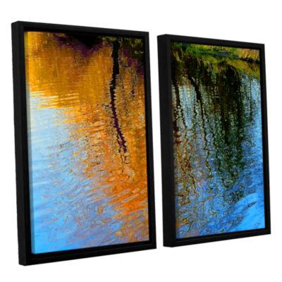 Brushstone Rogue Reflections 2-pc. Floater FramedCanvas Wall Art