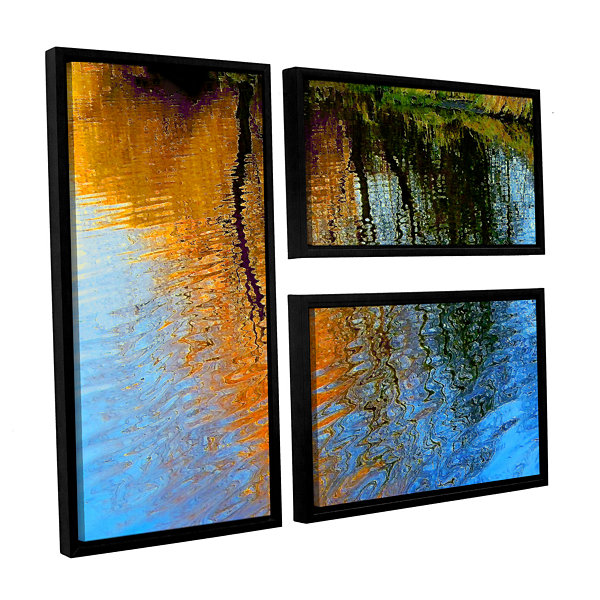 Brushstone Rogue Reflections 3-pc. Flag Floater Framed Canvas Wall Art