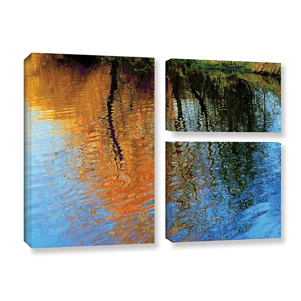 Brushstone Rogue Reflections 3-pc. Flag Gallery Wrapped Canvas Wall Art