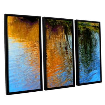 Brushstone Rogue Reflections 3-pc. Floater FramedCanvas Wall Art