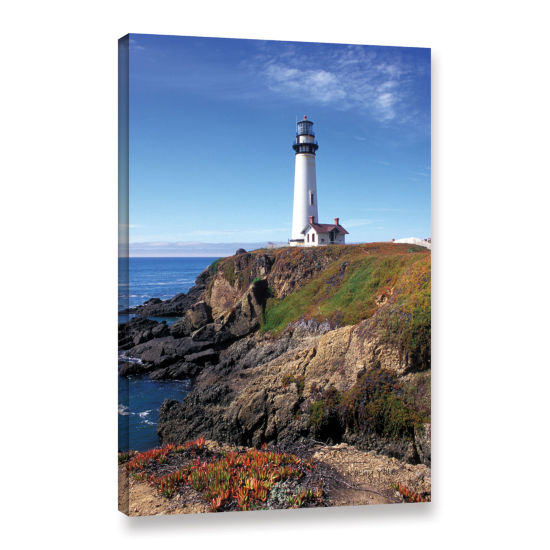 Brushstone Pigeon Point Lighthouse 2 Gallery Wrapped Canvas Wall Art