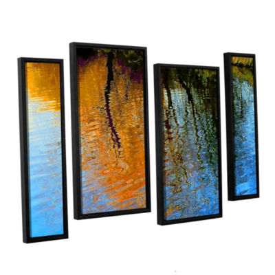 Brushstone Rogue Reflections 4-pc. Floater FramedStaggered Canvas Wall Art