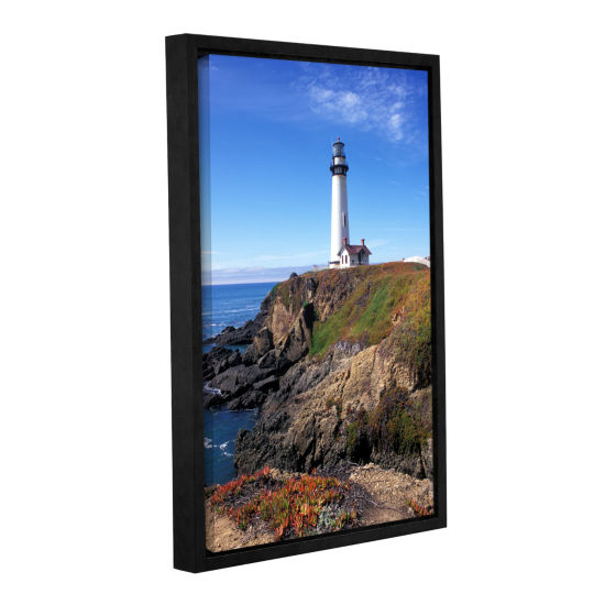 Brushstone Pigeon Point Lighthouse 2 Gallery Wrapped Floater-Framed Canvas Wall Art
