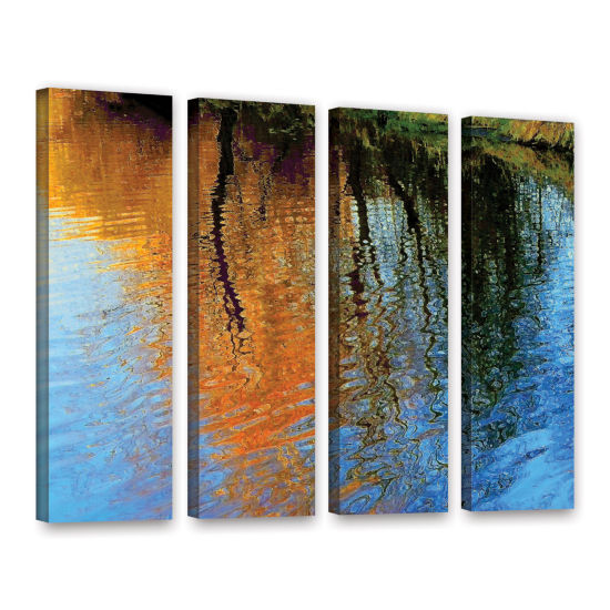 Brushstone Rogue Reflections 4-pc. Gallery WrappedCanvas Wall Art