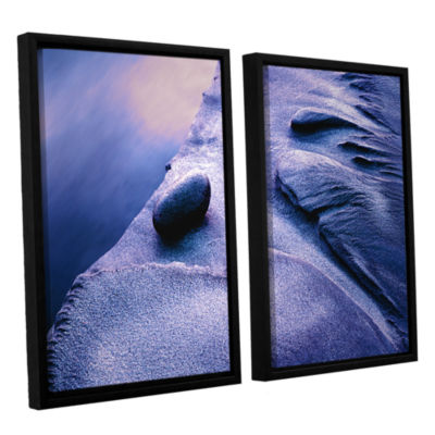 Brushstone Rock Sand And Stream 2-pc. Floater Framed Canvas Wall Art