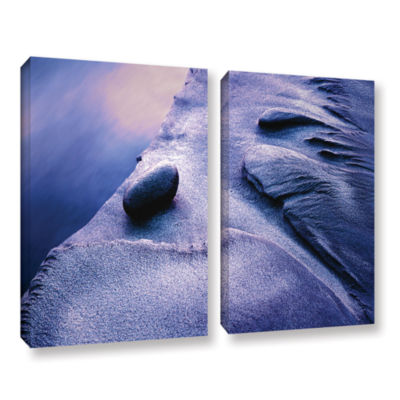 Brushstone Rock Sand And Stream 2-pc. Gallery Wrapped Canvas Wall Art