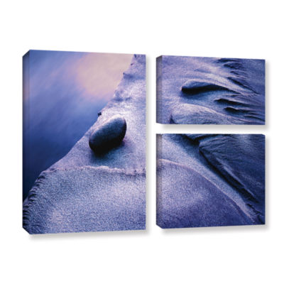 Brushstone Rock Sand And Stream 3-pc. Flag GalleryWrapped Canvas Wall Art