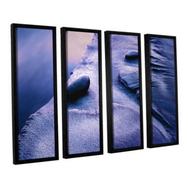 Brushstone Rock Sand And Stream 4-pc. Floater Framed Canvas Wall Art