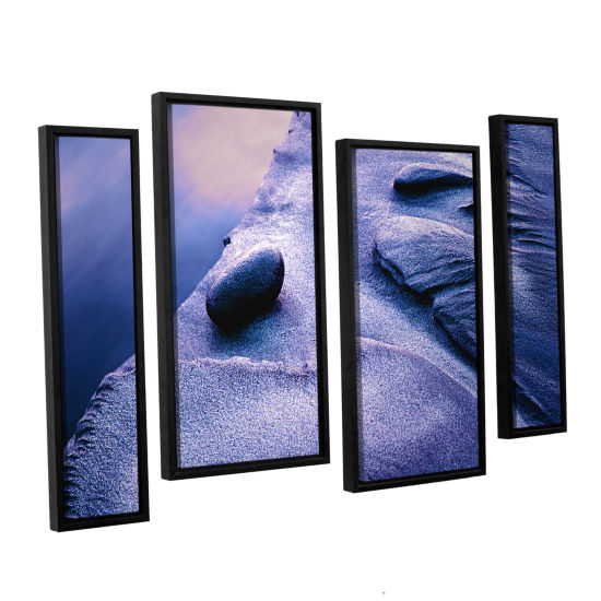 Brushstone Rock Sand And Stream 4-pc. Floater Framed Staggered Canvas Wall Art