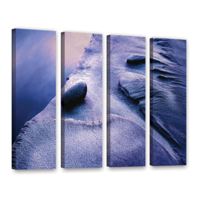 Brushstone Rock Sand And Stream 4-pc. Gallery Wrapped Canvas Wall Art