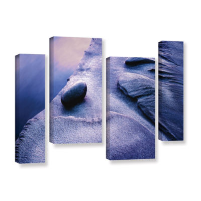 Brushstone Rock Sand And Stream 4-pc. Gallery Wrapped Staggered Canvas Wall Art