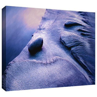 Brushstone Rock Sand And Stream Gallery Wrapped Canvas Wall Art