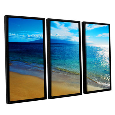 Brushstone Quiet Place 3-pc. Floater Framed CanvasWall Art