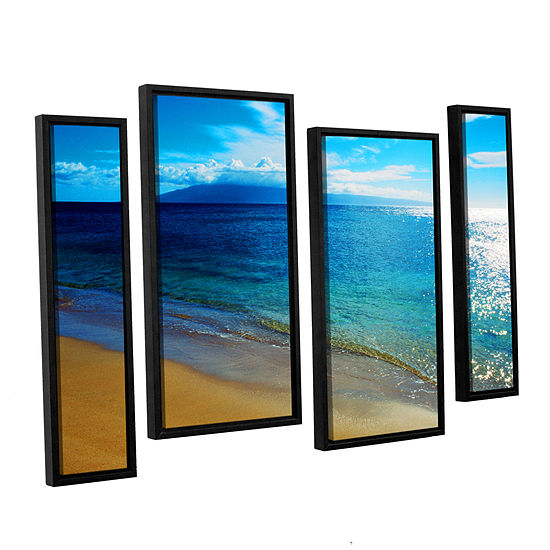 Brushstone Quiet Place 4-pc. Floater Framed Staggered Canvas Wall Art