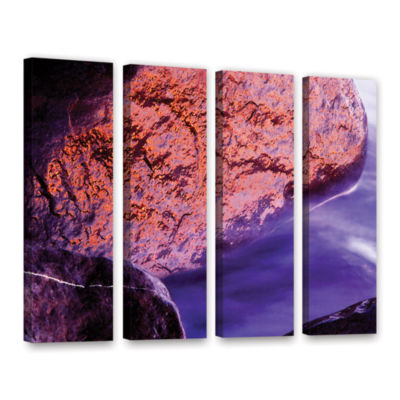 Brushstone Rock Surf And Sunset 4-pc. Gallery Wrapped Canvas Wall Art