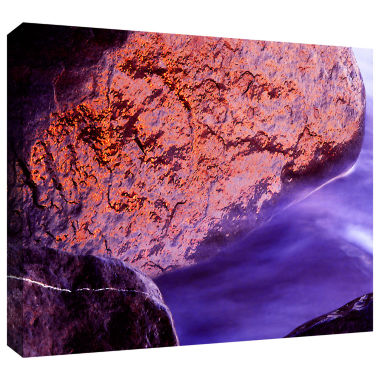 Brushstone Rock Surf And Sunset Gallery Wrapped Canvas Wall Art