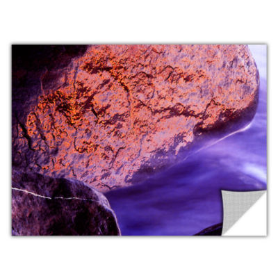 Brushstone Rock Surf And Sunset Removable Wall Decal