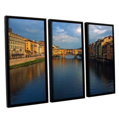 Brushstone Ponte Vecchio Sunset 3-pc. Floater Framed Canvas Wall Art