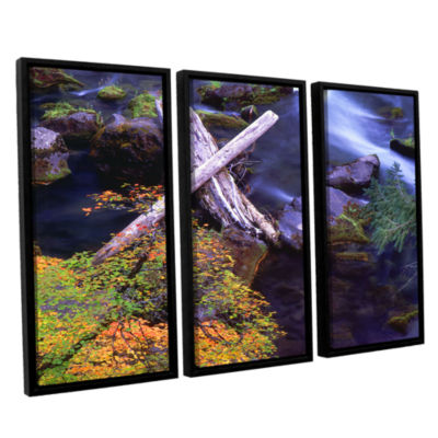 Brushstone Rogue River Falls 3-pc. Floater FramedCanvas Wall Art