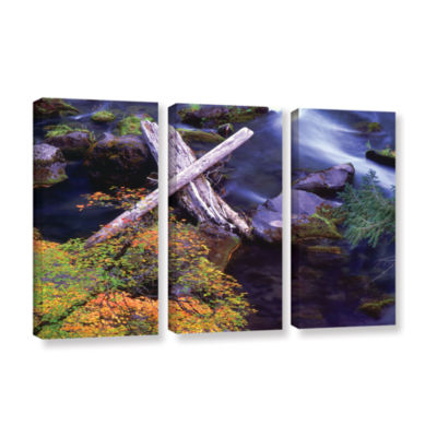Brushstone Rogue River Falls 3-pc. Gallery WrappedCanvas Wall Art
