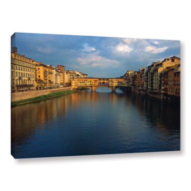 Brushstone Ponte Vecchio Sunset Gallery Wrapped Canvas Wall Art