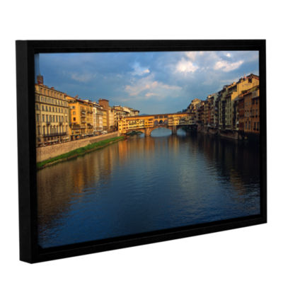 Brushstone Ponte Vecchio Sunset Gallery Wrapped Floater-Framed Canvas Wall Art