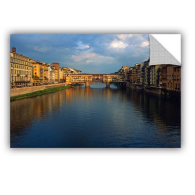 Brushstone Ponte Vecchio Sunset Removable Wall Decal