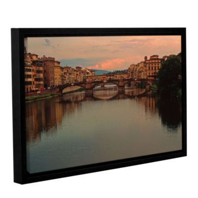 Brushstone Ponte Vecchio Reflections Gallery Wrapped Floater-Framed Canvas Wall Art